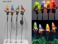 garden solar gnome stake