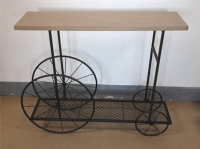 RUSTIC CART SIDE TABLE