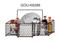 Cens.com WALL SPICE RACK WITH TOWLE HOLDER G.O.U. INTERNATIONAL CO., LTD.