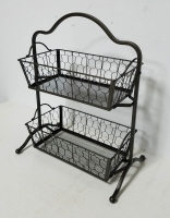 2-TIER STORAGE BASKETS - BLACK