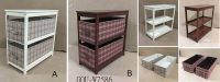 COUNTRY FABRIC STORAGE TABLE
