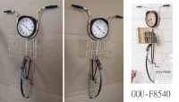 BICYCLE WALL CLOCK W/ BASKET