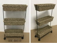 SEAGRASS SLIM ROLLING CART