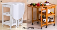 WOODEN STORAGE TABLE