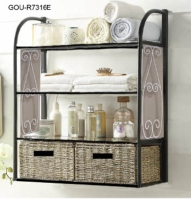 LINEN SHELVING WITH BASKETS