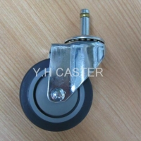 TPR casters w/11mm shaft