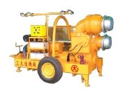Mobile self-priming pump