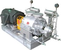 Centerline support multi-stage turbine pump
