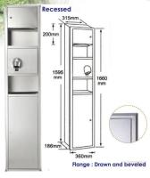 Cens.com Recessed Combination Dryer Towel Waste Unit HYGIENE SYRINGE ACTION ENTERPRISE LTD.