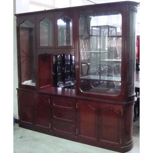 Mahogany Cabinet Room-Divider (H 7')