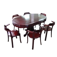 Oval Mahogany Dining Room Ensemble