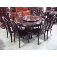 紫檀圓桌餐椅