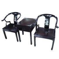 黑檀小牛角椅组
