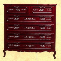 6-Drawer Mahogany Chest