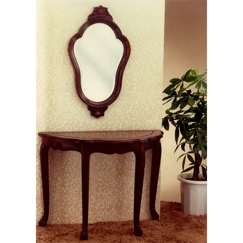 Semi-Circle Mahogany Console Table & Mirror Set