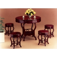 Small Mahogany Table And Chair Ensemble