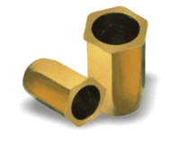 Full-Hexagon with Small Flange Hex Flange, Round Internal Hole, Open End