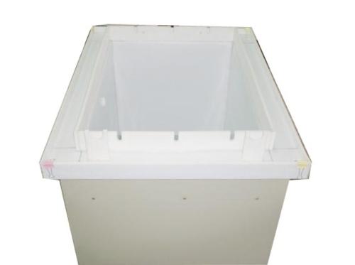 Teflon-coated, stainless-steel tank