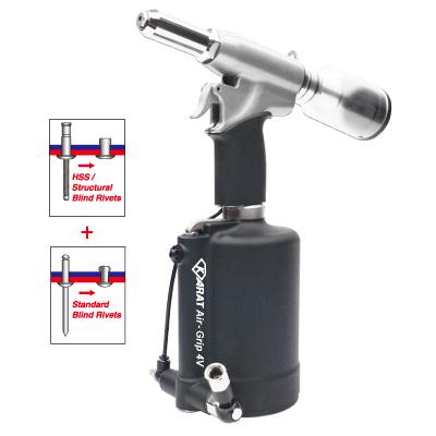 KARAT Air-Grip™ 4V Vacuum System Industrial Air Hydraulic Riveter 6.4 mm 1/4