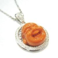 Momo Coral Happy Buddha Pendant