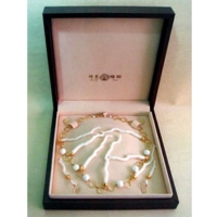 White Coral Necklace/Earring Set