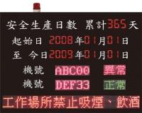 LED production display