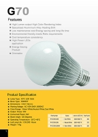 G70 high power led application