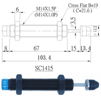 SC series: Non-adjustable, self compensation type shock absorbers.