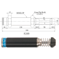 Adjustable shock absorbers. Can be adjusted according to speed and energy of impact objects.
