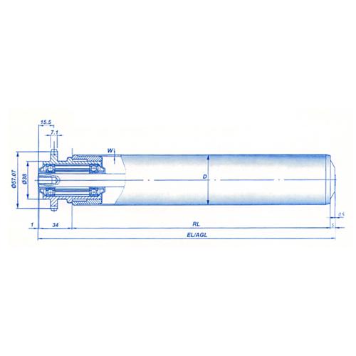 强制输送滚筒及堆积式输送滚筒