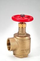 Brass fire hose valve, UL/FM listed
