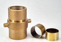 Brass expansion-ring hose coupling for single jacket