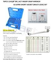 "76PCS 11H(1/4""DR.) ACT INSERT-SNAP WRENCH & SUPER SHORT SOCKET (MULTI LOCK) SET"