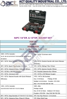 Cens.com 94PC 1/4DR. & 1/2DR. SOCKET SET ACT QUALITY INDUSTRIAL CO., LTD.