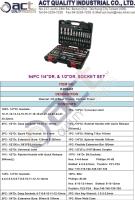Cens.com 94PC 1/4DR. & 1/2DR. SOCKET SET ACT QUALITY INDUSTRIAL CO., LTD.