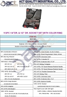 113PC 1/4DR. & 1/2 DR. SOCKET SET WITH COLOR RING