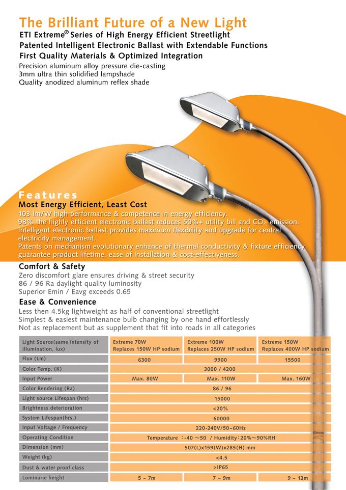 Extreme Streetlight (35W~180W)