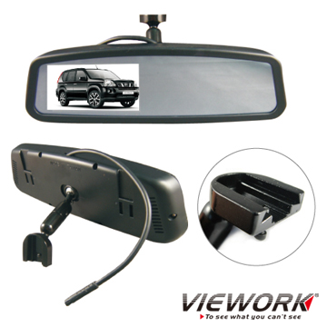 "NISSAN Professional Rear View Mirror with 4.3""TFT LCD Monitor"
