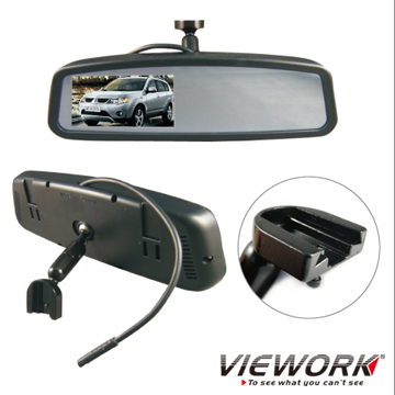 "MITSUBISHI Professional Rear View Mirror with 4.3""TFT LCD Monitor"