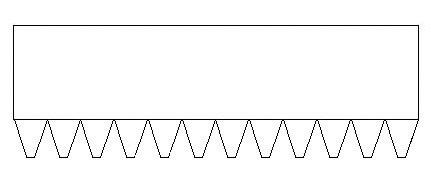 多沟槽皮带加厚型齿型图,多槽皮带