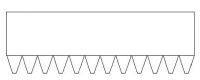 多溝槽皮帶加厚型齒型圖,多槽皮帶