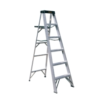 Aluminum Single Sided Step Ladder (Loading Capacity: 250lbs / 225lbs)