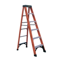 Fiberglass Single Sided Step Ladder (Loading Capacity: 300lbs)