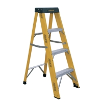 Fiberglass Single Sided Step Ladder (Loading Capacity: 250lbs)