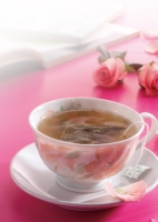 Triangular Green Tea Bag, Rose-flavored