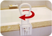 Rotating Bath Tub Safety Rail