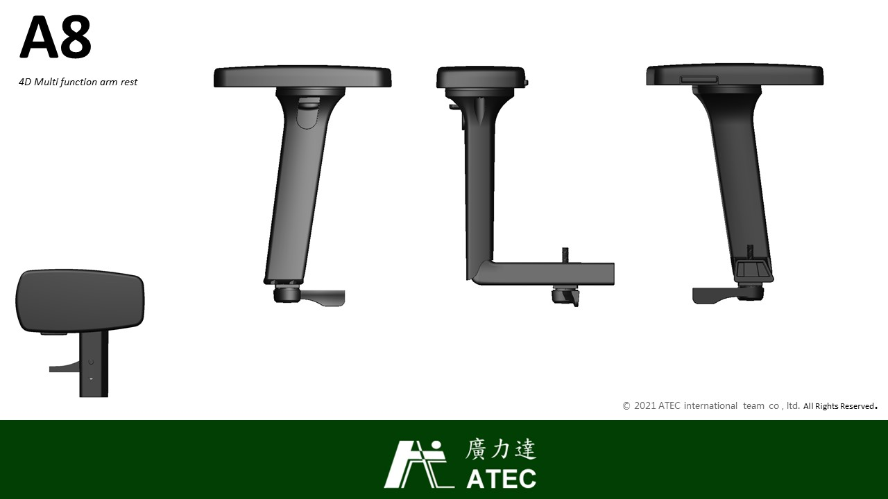 A8 Height adjustable arm rest