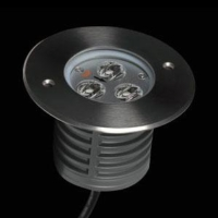 Asymmetrical high power LED inground light