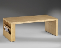 ASH COFFEE TABLE W/MAGAZINE RACK