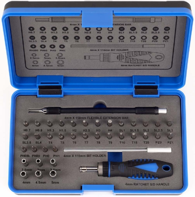 39pcs Ratchet Screwdriver And Precision Bit Set